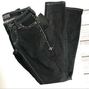 AFFLICTION premium black raquel jeans